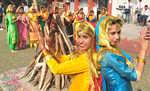 Traditional delicacies, kite flying mark Lohri in city