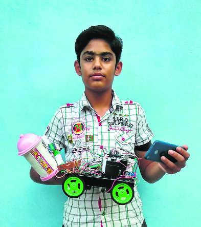 Ambala students develop bomb disposal robot
