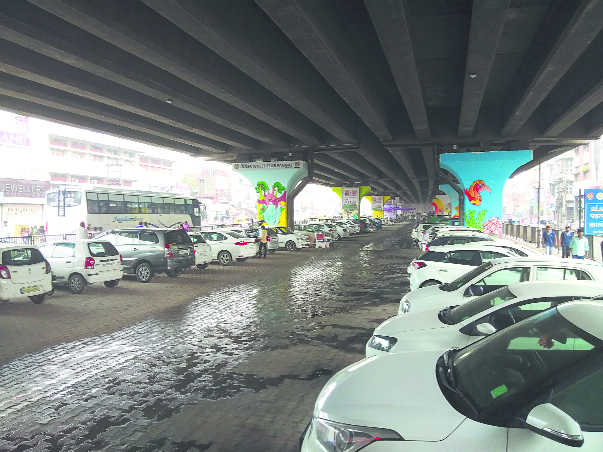 Parking for 7,000 vehicles under elevated highway in Panipat