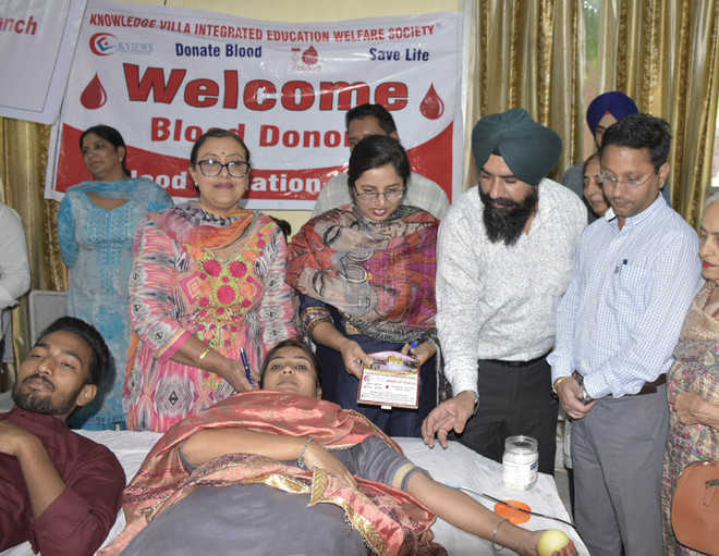 50 donate blood at camp