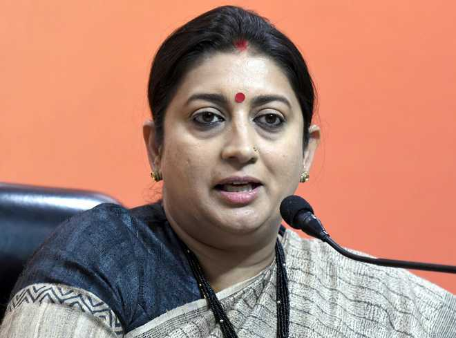 #MeToo: Women don't go to work to be harassed, says Smriti Irani