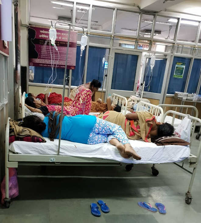 One bed for three patients at GMCH-32 gynaecology ward