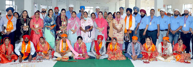 Marriages of seven couples solemnised in Phagwara