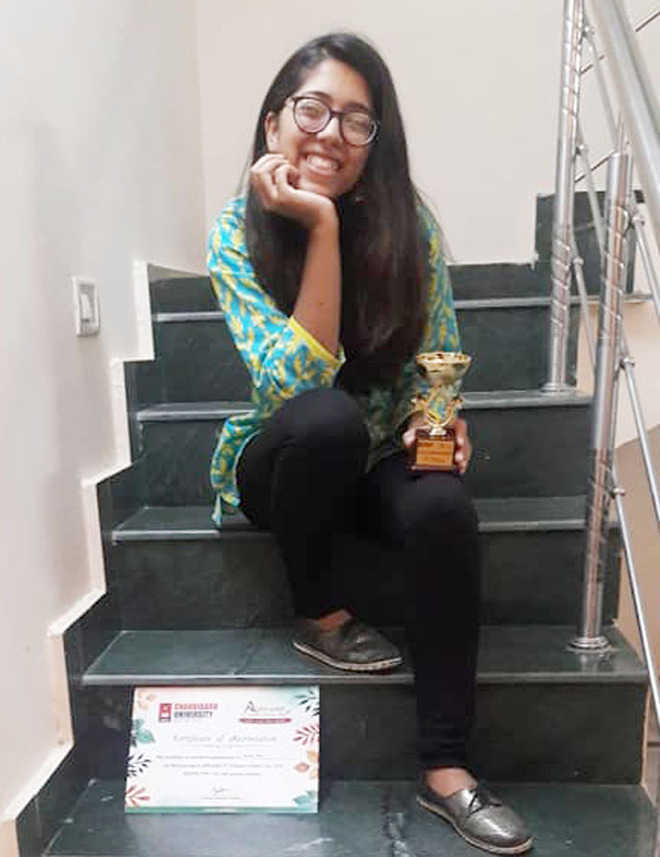 City girl bags IIIrd prize in poetry