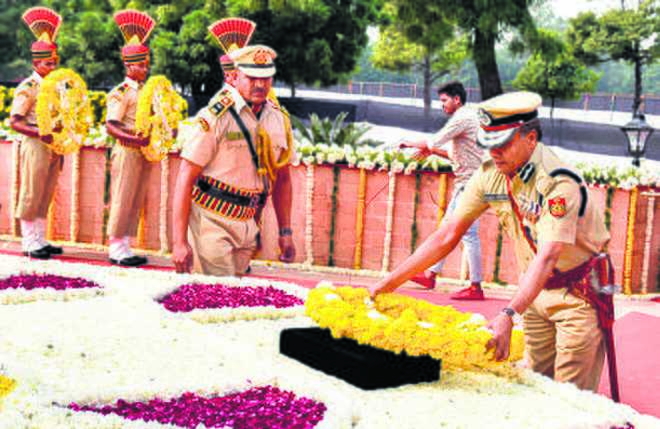 Commemoration Day Parade in memory of police martyrs