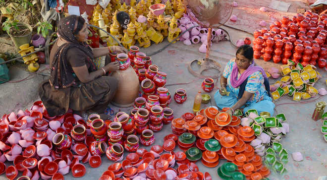 Come Diwali, wet clay comes alive as artisans churn out diyas