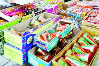 Admn bans sale of crackers in markets
