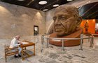 Prime Minister Narendra Modi signs the visitors book during his visit to the museum, exhibition and viewers' gallery, during the inauguration of 'Statue of Unity' to commemorate the birth anniversary of Sardar Vallabhbhai Patel, at Kevadiya in Narmada. PIB photo via PTI