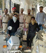 Two robbers arrested with stolen motorcycles