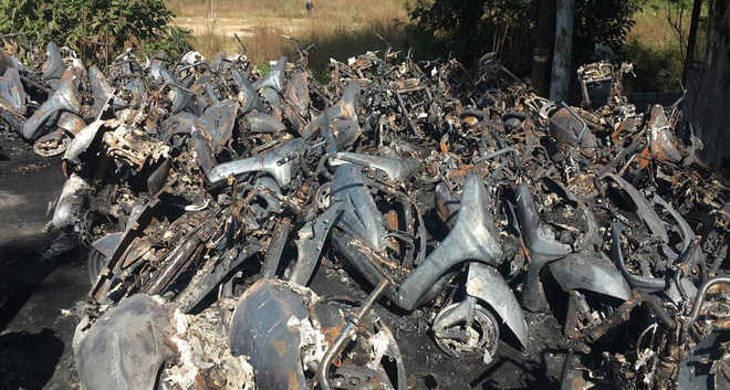 100 bikes destroyed in Kangra fire