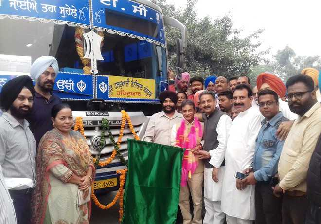 Singla flags off four new PRTC buses