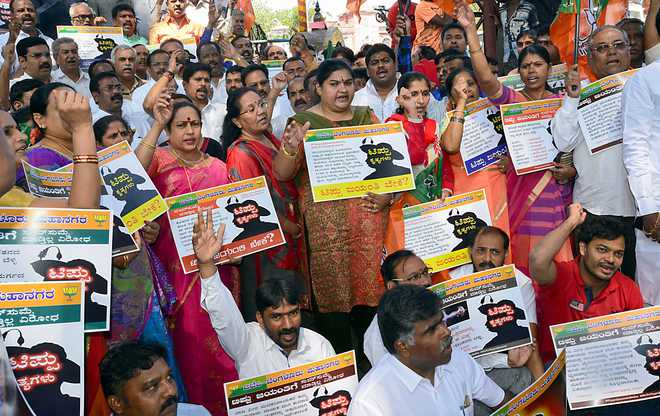 BJP stages protests ahead of Tipu Jayanti; security tightened in Karnataka
