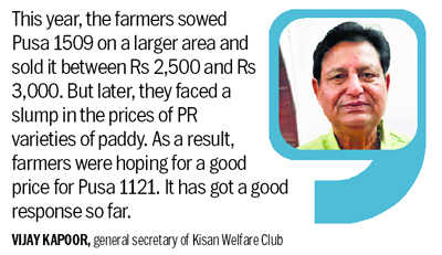 Pusa 1121 rice brings cheer to Karnal farmers
