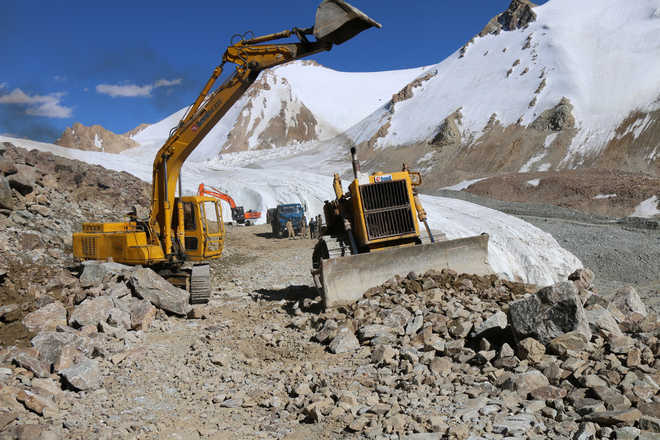BRO: World's first glaciated road coming up in Ladakh region