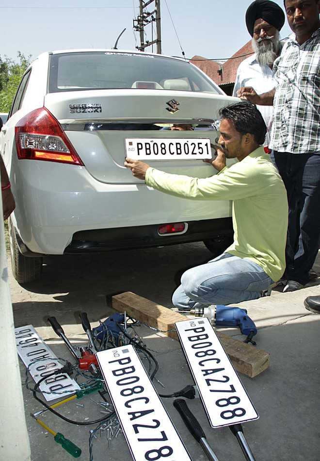 High-security number plates make comeback