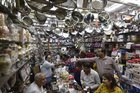 People buy utensils at a shop on the occasion of Dhanteras festival, in New Delhi, November 5. PTI