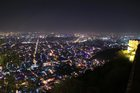 A view of the Jaipur city from the Nahargarh Fort on the occasion of Diwali festival in Jaipur on November 6. PTI