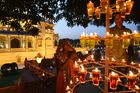 People light oil lamps during Diwali festival celebrations in Gandhinagar, some 30 km from Ahmedabad, on November 6. AFP