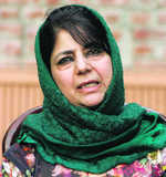 Mehbooba, Lone stake claim to form govt in J&K