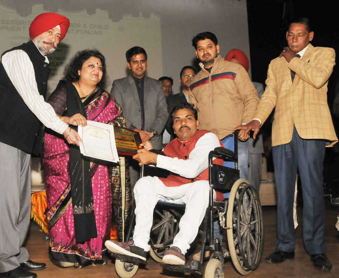 Differently abled honoured with state awards