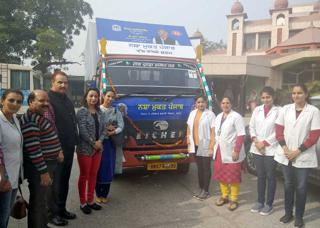 Van flagged off to apprise people of drug addiction