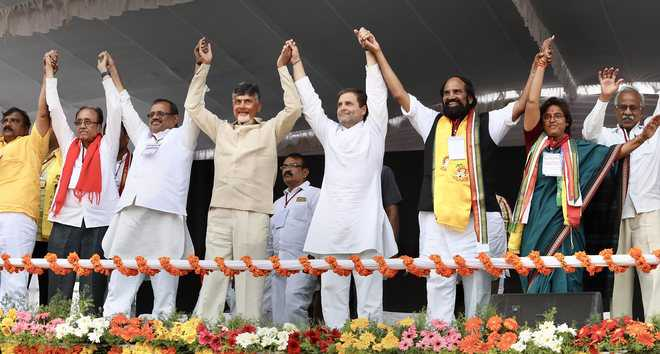 Rahul, Naidu smell win in Telangana