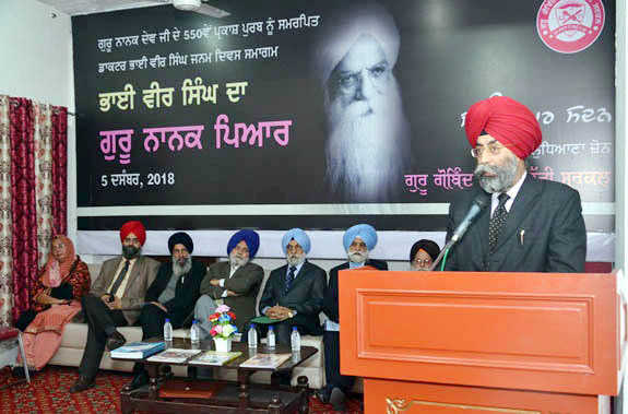 Bhai Veer Singh's works should be translated, says Prof Balwinderpal