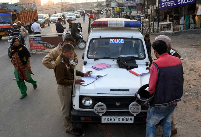 Drive against traffic violations