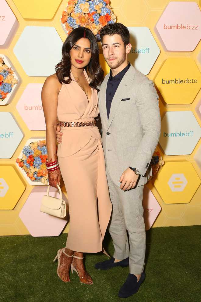 Married couple's first night out; Priyanka, Nick attend the launch party of 'Bumble'