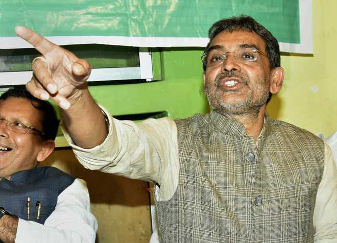 RLSP chief Kushwaha slams BJP over temple politics