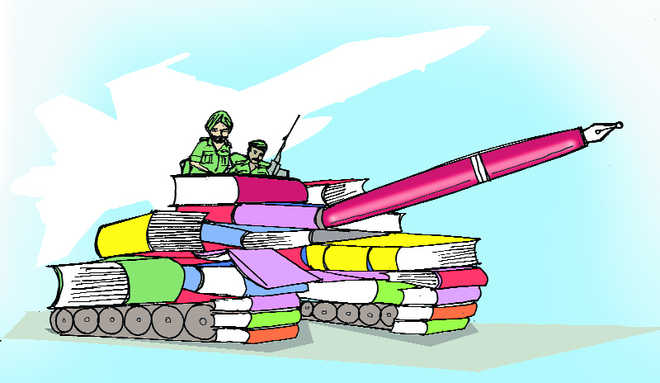 When soldiers wield the pen