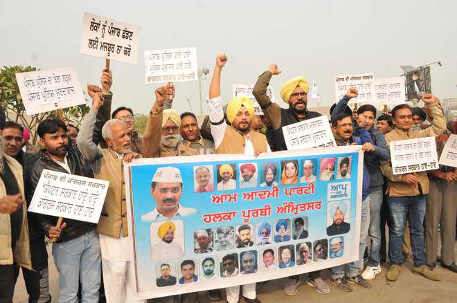 AAP raises concern over law and order situation, protests