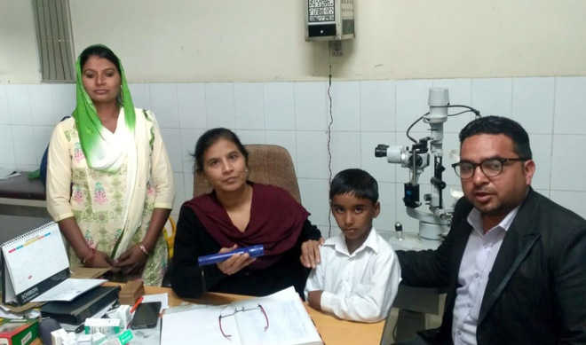 8-yr-old with congenital cataract gets vision