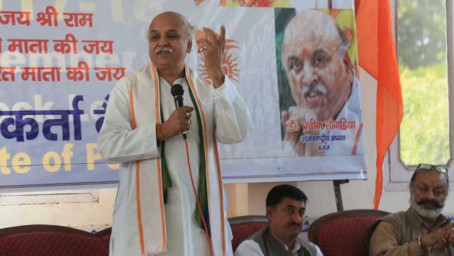 Togadia lashes out at Modi government