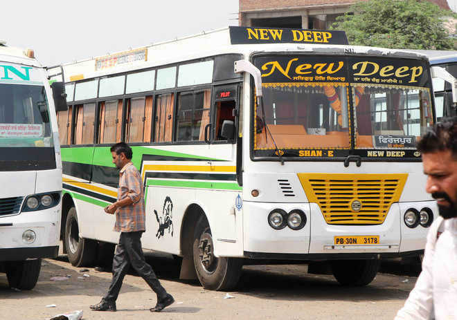 Buses with black films, curtains  continue to ply on city roads