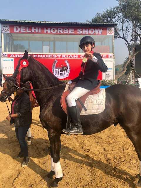 Jaiveer bags rich haul of medals at Delhi Horse Show