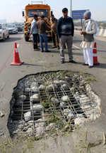 Gurugram flyover damaged