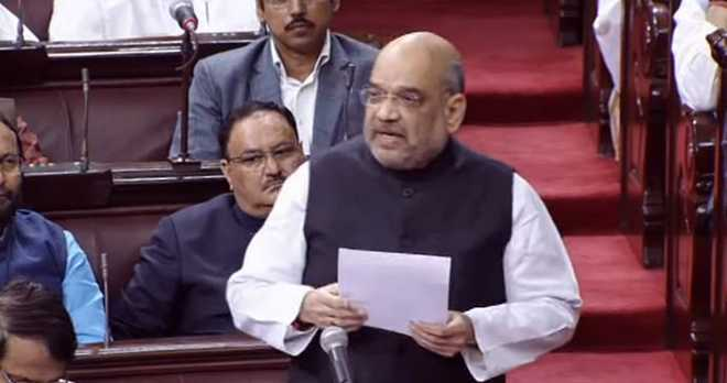 In maiden RS speech, Amit Shah takes on Congress