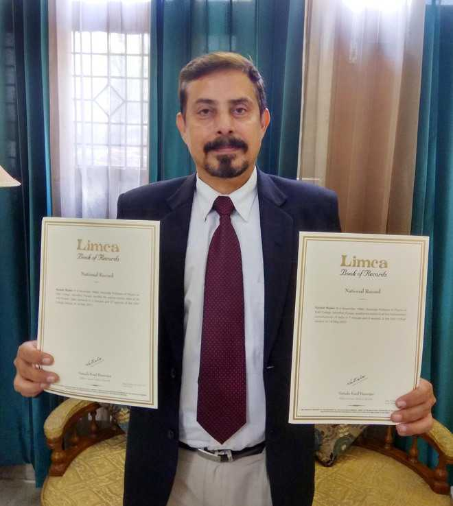 City-based professor makes it to Limca Book of Records