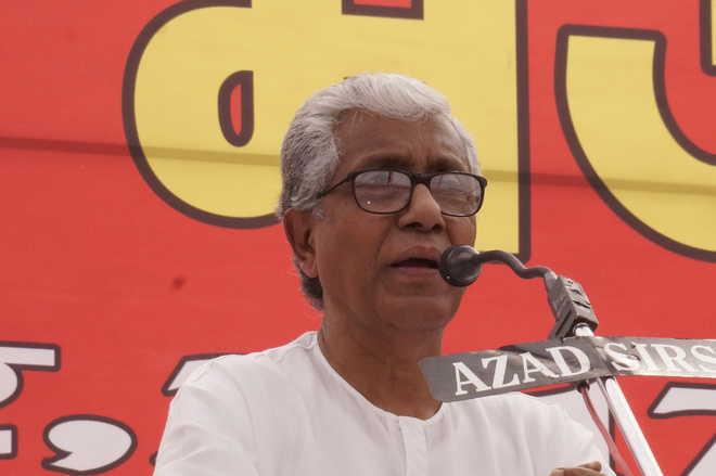 BJP conspiring to wipe Tripura off history, alleges Manik Sarkar