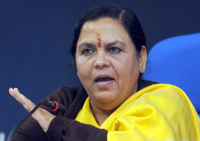 Uma Bharti to launch national drinking water programme in Uttarakhand