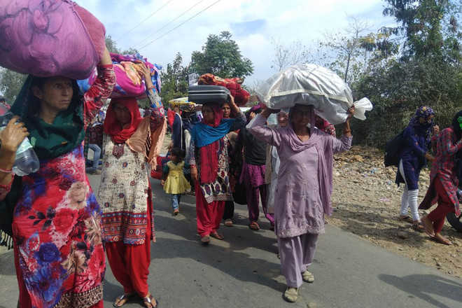 'Harassed' by cops, residents flee village