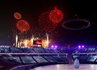 Fireworks during the opening ceremony. Reuters