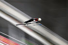 Sara Takanashi of Japan competes in ski jumping. Reuters