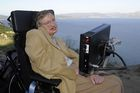 In this file photo taken on September 25, 2008, professor Stephen Hawking is pictured during a visit to Cape Finisterre, some 90 km from Santiago, northwestern Spain. AFP