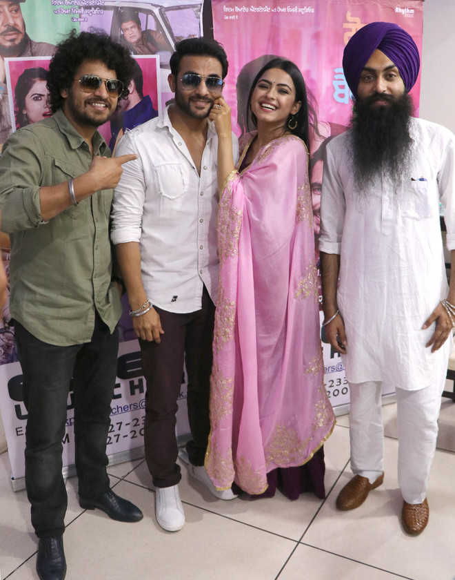 Punjabi movie star cast visits city for promotion