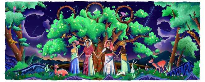Tree huggers of Reni