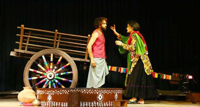 Amritsar-based group stages Balwant Gargi's 'Saukan'