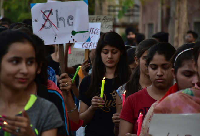 Candle march taken out for rape victims
