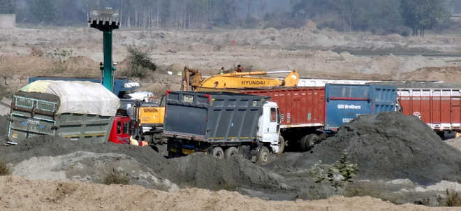 State may allow use of heavy machines to excavate sand